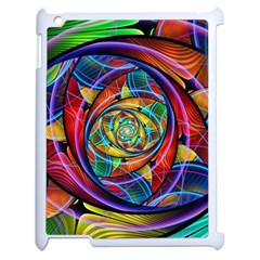 Eye Of The Rainbow Apple Ipad 2 Case (white) by WolfepawFractals