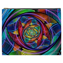 Eye Of The Rainbow Cosmetic Bag (xxxl)  by WolfepawFractals