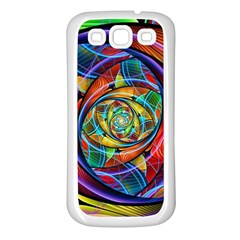 Eye Of The Rainbow Samsung Galaxy S3 Back Case (white) by WolfepawFractals