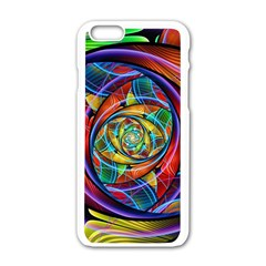 Eye Of The Rainbow Apple Iphone 6/6s White Enamel Case by WolfepawFractals