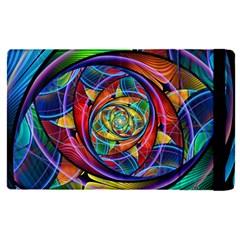 Eye Of The Rainbow Apple Ipad Pro 9 7   Flip Case by WolfepawFractals