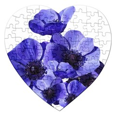 Poppy Blossom Bloom Summer Jigsaw Puzzle (heart) by Nexatart