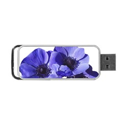Poppy Blossom Bloom Summer Portable Usb Flash (two Sides) by Nexatart