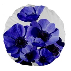 Poppy Blossom Bloom Summer Large 18  Premium Flano Round Cushions by Nexatart