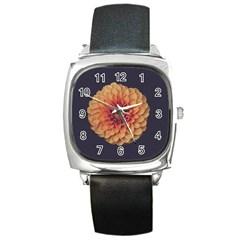 Art Beautiful Bloom Blossom Bright Square Metal Watch by Nexatart