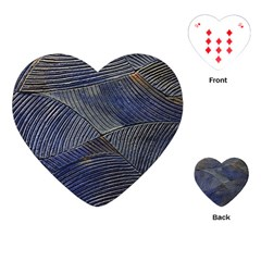 Textures Sea Blue Water Ocean Playing Cards (heart)  by Nexatart