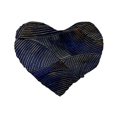 Textures Sea Blue Water Ocean Standard 16  Premium Flano Heart Shape Cushions by Nexatart