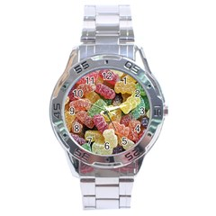 Jelly Beans Candy Sour Sweet Stainless Steel Analogue Watch by Nexatart