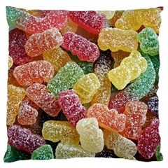 Jelly Beans Candy Sour Sweet Large Cushion Case (two Sides) by Nexatart