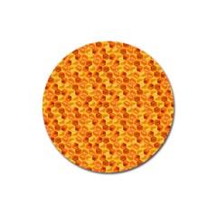 Honeycomb Pattern Honey Background Magnet 3  (round) by Nexatart