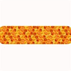 Honeycomb Pattern Honey Background Large Bar Mats by Nexatart