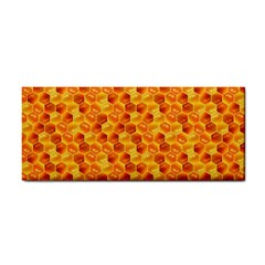 Honeycomb Pattern Honey Background Cosmetic Storage Cases by Nexatart