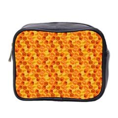 Honeycomb Pattern Honey Background Mini Toiletries Bag 2 Side by Nexatart