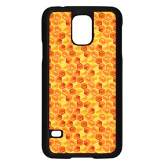 Honeycomb Pattern Honey Background Samsung Galaxy S5 Case (black) by Nexatart