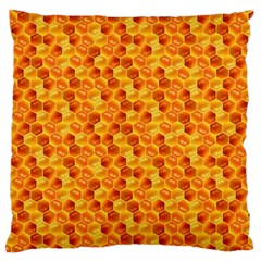 Honeycomb Pattern Honey Background Standard Flano Cushion Case (one Side) by Nexatart
