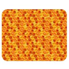 Honeycomb Pattern Honey Background Double Sided Flano Blanket (medium)  by Nexatart