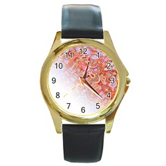 Effect Isolated Graphic Round Gold Metal Watch by Nexatart