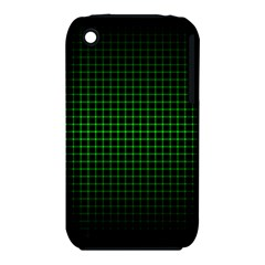 Optical Illusion Grid in Black and Neon Green iPhone 3S/3GS