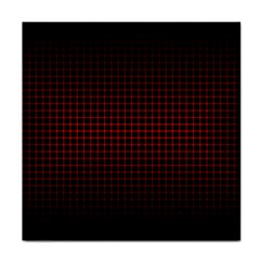 Optical Illusion Grid in Black and Red Face Towel
