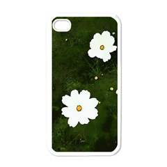 Daisies In Green Apple Iphone 4 Case (white) by DeneWestUK