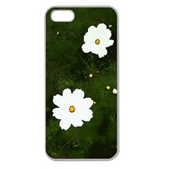 Daisies In Green Apple Seamless Iphone 5 Case (clear) by DeneWestUK