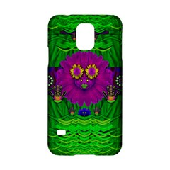 Summer Flower Girl With Pandas Dancing In The Green Samsung Galaxy S5 Hardshell Case  by pepitasart
