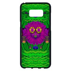 Summer Flower Girl With Pandas Dancing In The Green Samsung Galaxy S8 Plus Black Seamless Case