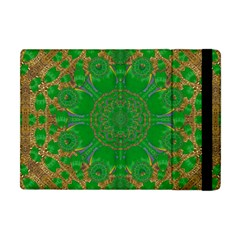 Summer Landscape In Green And Gold Apple Ipad Mini Flip Case by pepitasart