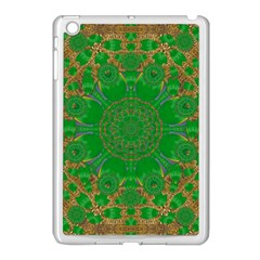 Summer Landscape In Green And Gold Apple Ipad Mini Case (white) by pepitasart