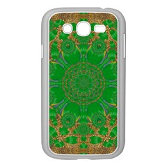 Summer Landscape In Green And Gold Samsung Galaxy Grand Duos I9082 Case (white) by pepitasart