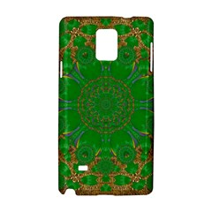 Summer Landscape In Green And Gold Samsung Galaxy Note 4 Hardshell Case by pepitasart
