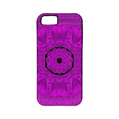 Purple Mandala Fashion Apple Iphone 5 Classic Hardshell Case (pc+silicone) by pepitasart