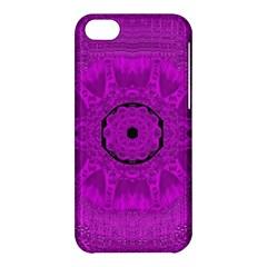 Purple Mandala Fashion Apple Iphone 5c Hardshell Case by pepitasart