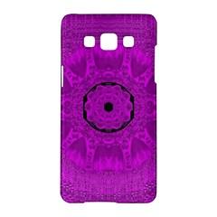 Purple Mandala Fashion Samsung Galaxy A5 Hardshell Case  by pepitasart