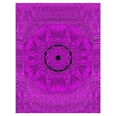 Purple Mandala Fashion Drawstring Bag (large) by pepitasart