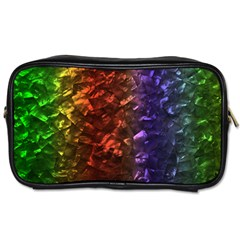 Multi Color Magical Unicorn Rainbow Shimmering Mother of Pearl Toiletries Bags 2-Side