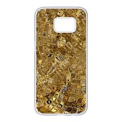 Melting Swirl E Samsung Galaxy S7 Edge White Seamless Case by MoreColorsinLife
