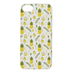 Pineapple Fruit And Juice Patterns Apple Iphone 5s/ Se Hardshell Case by TastefulDesigns