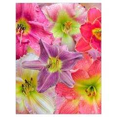 Wonderful Floral 22a Drawstring Bag (large) by MoreColorsinLife