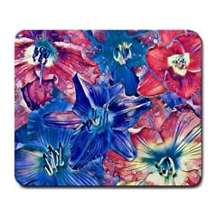 Wonderful Floral 22c Large Mousepads by MoreColorsinLife