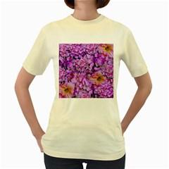 Wonderful Floral 24 Women s Yellow T Shirt by MoreColorsinLife