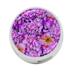 Wonderful Floral 24 4 Port Usb Hub (one Side) by MoreColorsinLife