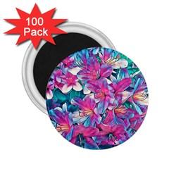 Wonderful Floral 25a 2 25  Magnets (100 Pack)  by MoreColorsinLife