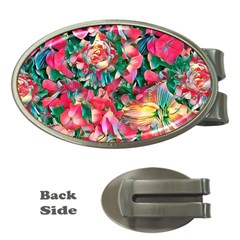Wonderful Floral 24b Money Clips (oval)  by MoreColorsinLife