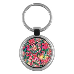 Wonderful Floral 24b Key Chains (round)  by MoreColorsinLife