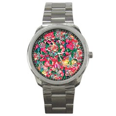 Wonderful Floral 24b Sport Metal Watch by MoreColorsinLife