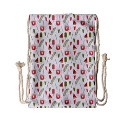 Watermelon Fruit Paterns Drawstring Bag (small) by TastefulDesigns