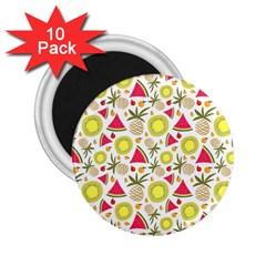 Summer Fruits Pattern 2 25  Magnets (10 Pack)  by TastefulDesigns