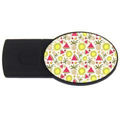 Summer Fruits Pattern Usb Flash Drive Oval (4 Gb) by TastefulDesigns