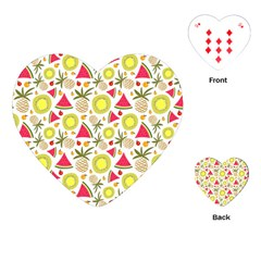 Summer Fruits Pattern Playing Cards (heart)  by TastefulDesigns